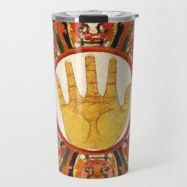 Buddhist Hindu Healing Hand Mandala Travel Mug