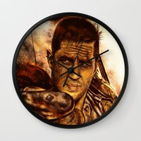 mad max Wall Clocks featuring Mad Max : Fury Road by p1xer