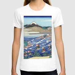 Hokusai -36 views of the Fuji 45 The Fuji from Kanaya on the Tokaido T-shirt