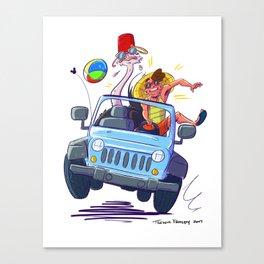 Ostrich Summer Canvas Print