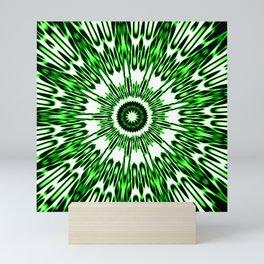 Green White Black Explosion Mini Art Print