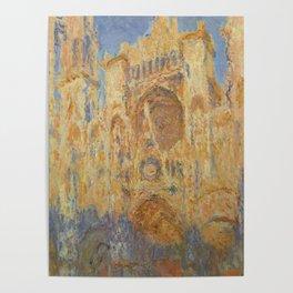 Monet, Rouen Cathedral, La Cathédrale de Rouen Poster