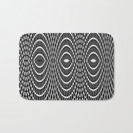 Black and white curvilinear design Bath Mat