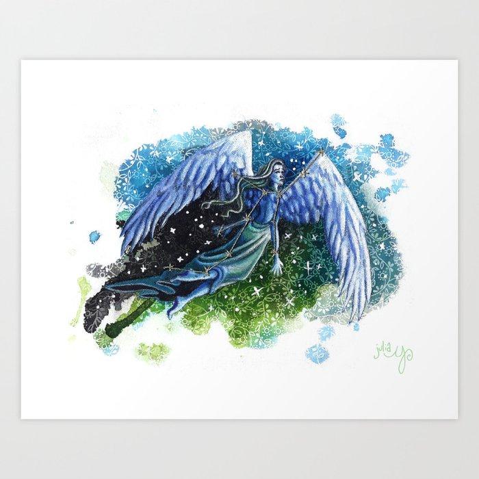 Virgo- Zodiac Art Print