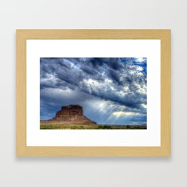 Butte of Chaco Canyon Framed Art Print