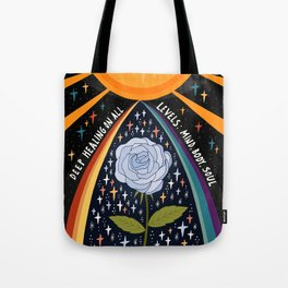 Deep healing on all levels Tote Bag