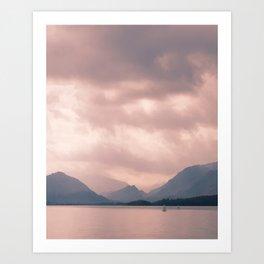 Derwent water and Borrowdale Valley Cumbria Art Print