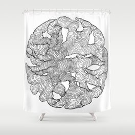 Organic Lines Shower Curtain