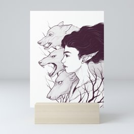 Wolf Witch - Wolf Spirit Animal Mini Art Print