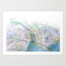 Pittsburgh Aerial Art Print