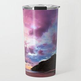 Beautiful beach landscape sunset Travel Mug