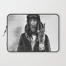 King Von - Dayvon Daquan Bennett - Rap - Drill Chicago Music - O-Block Society6 Sketch Art 336 Laptop Sleeve
