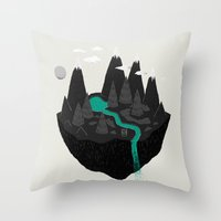 island Throw Pillows featuring island. by Louis Roskosch