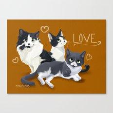 Meow Love Canvas Print