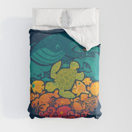 Aquatic Rainbow Comforters
