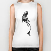 koi fish Biker Tanks featuring Koi Fish by I Ate My Pencil