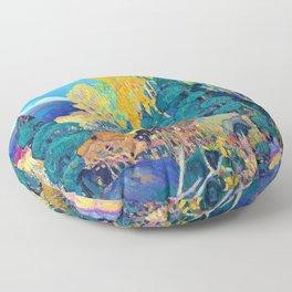 Franklin Carmichael - Autumn Hillside - Digital Remastered Edition Floor Pillow