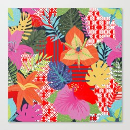 red jungle Canvas Print