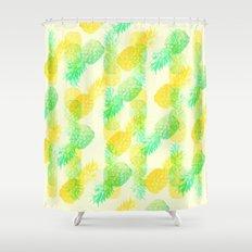 Summer Pineapples Shower Curtain