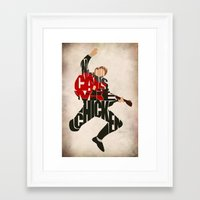 mcfly Framed Art Prints featuring Marty Mcfly by A Deniz Akerman