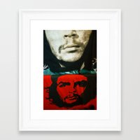 che Framed Art Prints featuring Che by Camilla Myrrha