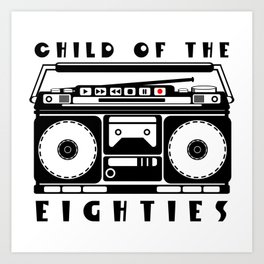 Eighties Music Art Print