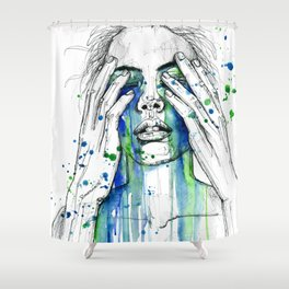 Don't fight my tears 'cause they feel so good. Shower Curtain