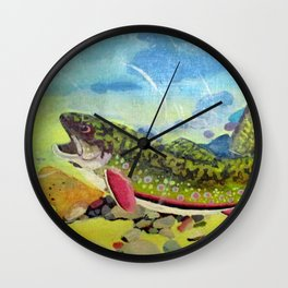 Hungry Trout Wall Clock