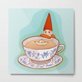 fairytale dwarf during teatime Metal Print