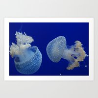 jelly fish Art Prints featuring Jelly Fish by Eternal