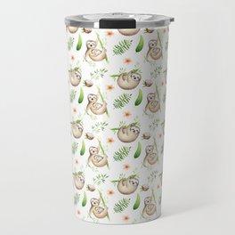 Coconut Sloth Travel Mug