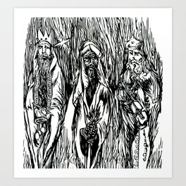 The 3 Wise Men Art Print