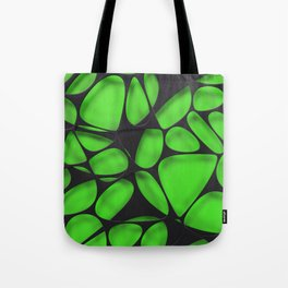 Black on green, organic abstraction Tote Bag