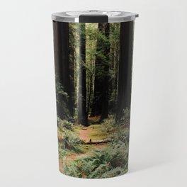 Deer in Redwood Forest Travel Mug