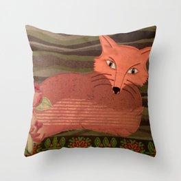 Fiber Fox Throw Pillow