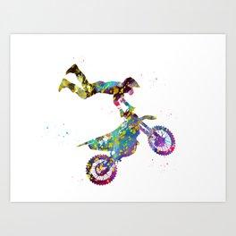 Motocross Dirt Bike Art Print