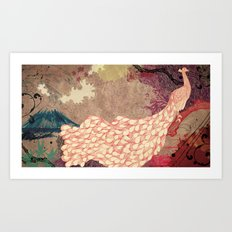 The Red Peacock Art Print