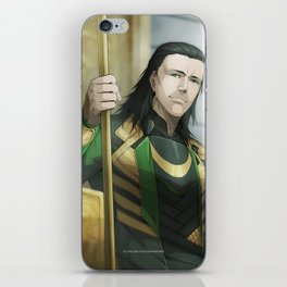 Thor 2 - Loki Print iPhone Skin