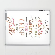 Crisp in the Fall - The Great Gatsby quote Laptop & iPad Skin