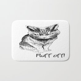 Fluff Off Angry Cat Bath Mat