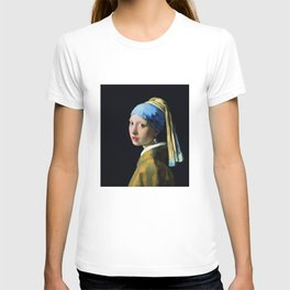 Jan Vermeer Girl With A Pearl Earring Baroque Art T-shirt