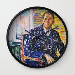 Edvard Munch - Self-Portrait in the Clinc - Digital Remastered Edition Wall Clock