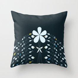 Night Garden Pattern Throw Pillow