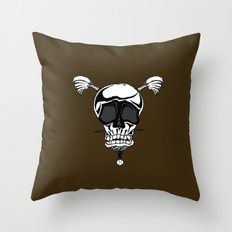 Baseball Skulls and Trebuchet's Throw Pillow