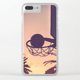 basketball hoop 1 Clear iPhone Case