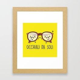 Occhiali da Soli Framed Art Print