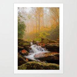 Foggy Boone Fork Art Print