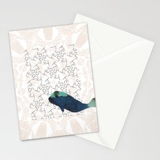 Blue Whale 2 Yes Stationery Cards