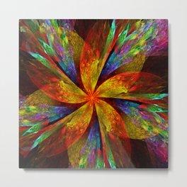 Painterly multicolor flower Metal Print