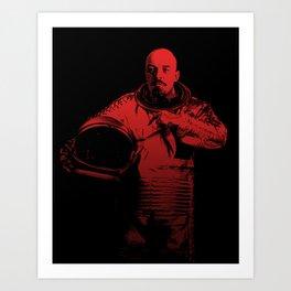 Cosmonaut Vlad Art Print